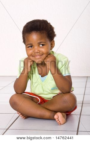 cute african american little girl
