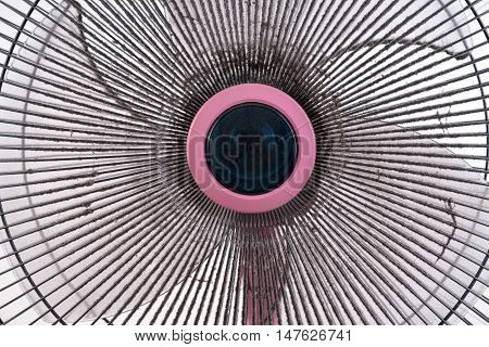Dirty Electric Fan On White Background