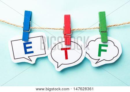 Etf Bubble Word