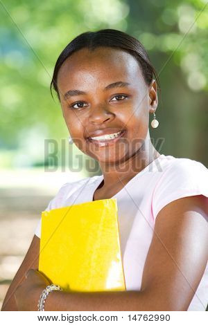 portrait of a young female african american student