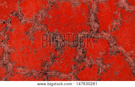 Plaster, plaster texture, plaster background. Old brick wall with plaster, photo texture, seamless background, red, plaster pattern