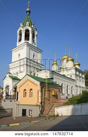 NIZHNY NOVGOROD, RUSSIA - AUGUST 27, 2015: The Church of St John the Baptist in Nizhny Novgorod. Religious landmark