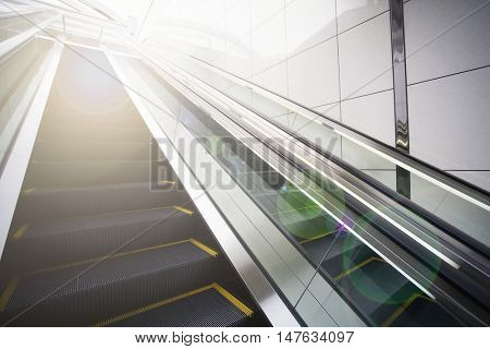 Escalators with lens flare