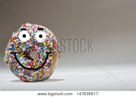 Doughnut and smiling face