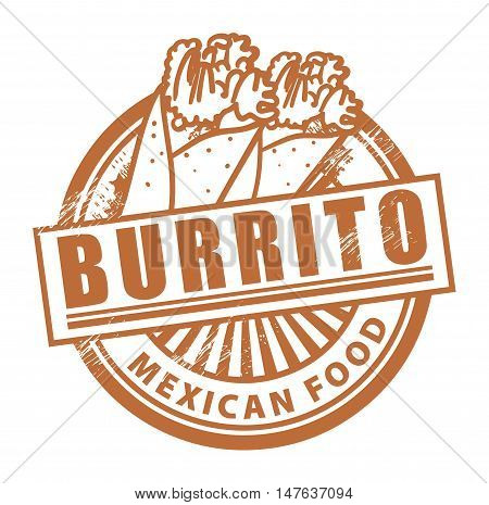 Grunge rubber stamp, with the text Burrito written inside, vector illustration