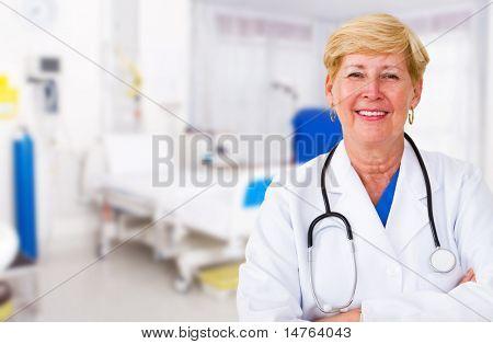 senior doctor in hospital