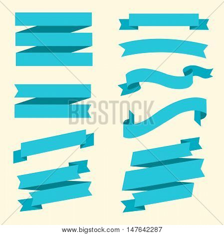 Banner set. Collection of ribbon elements. Vector illustration eps 10