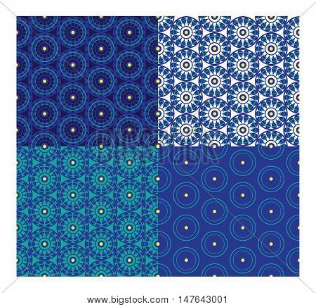 seamless pattern of image abstract element on blue background