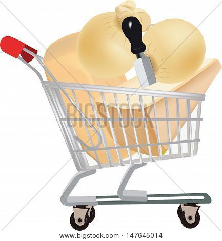shopping cart full of cheese purchased offer