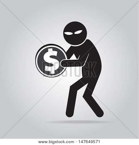 Hacker Internet security concept. Business vector illustration