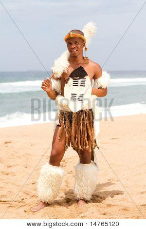 native african man on beach