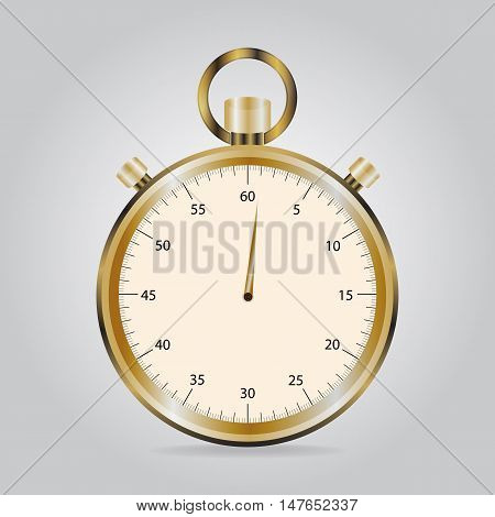 Stopwatch icon, object flat icon vector illustration