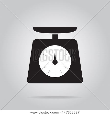 Weight scale icon symbol flat vector illustration