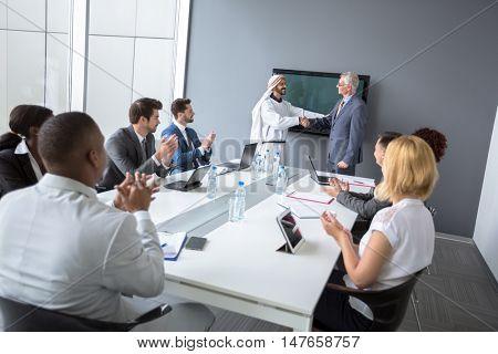 Multiethnic partnership between manager company and Arabian partner