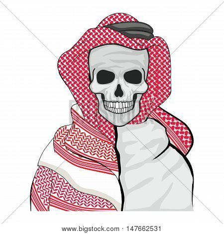 arabic coat of arms with skull, grunge.vintage design t-shirts