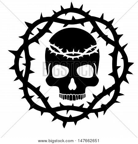 Crown Of Thorns Skull-01.eps