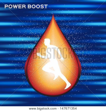 sport energy boost serum , energy boost drop vector , log and icon