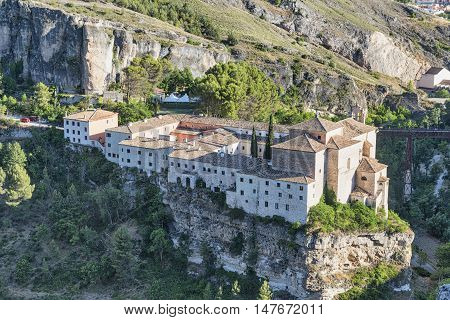 Cuenca (Castilla-La Mancha Spain) the historic convent of San Pablo nowadays the parador de Cuenca