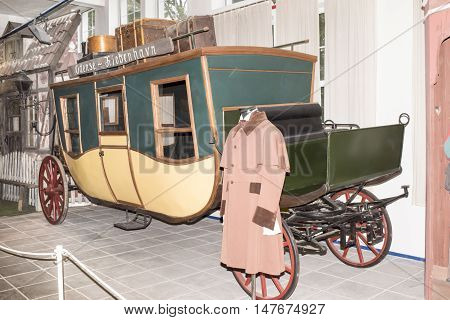 Moscow, Russia -September 4, 2016: Passenger carriage; 19th century in
