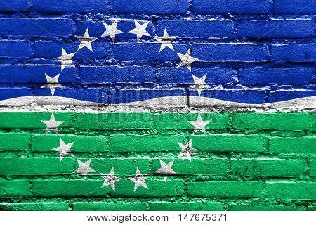 Flag Of Hampton Roads, Virginia, Usa, Painted On Brick Wall