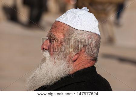 Orthodox Jewish Man Near The Western Wall .jerusalem. Israel