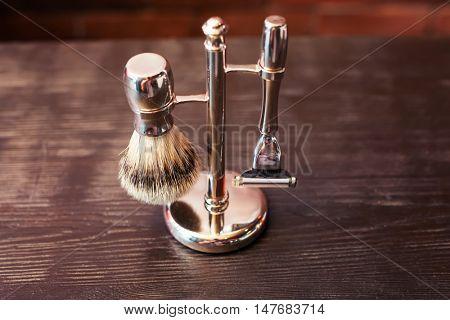 Machine for shaving and brush