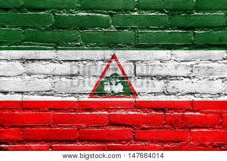 Flag Of Joao Neiva, Brazil, Painted On Brick Wall