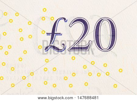 Pound Currency Background - 20 Pounds