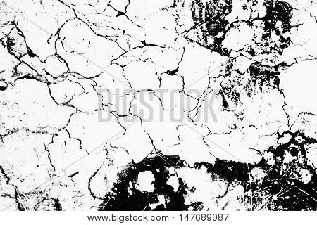 Invert Marble Texture White Line And Black Color Background For Design Or Decorate Your Content.