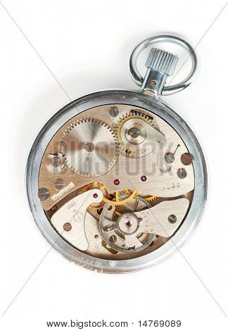 Uhrwerk-Nahaufnahme