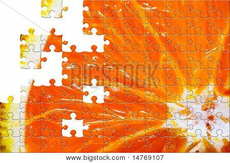 Puzzle Sliced orange