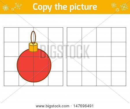 Copy the picture, education game for children, Christmas ball