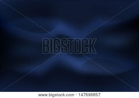 Abstract blurred color and gradient vector navy blue background