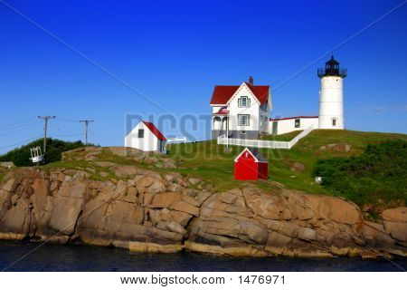 "Cape Neddick (""Nubble"") Lighthouse, Maine.."