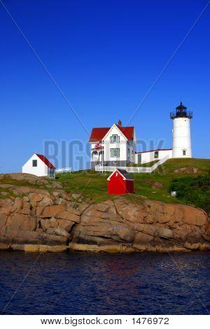 """Cape Neddick (""""Nubble"""") Lighthouse, Maine.."""