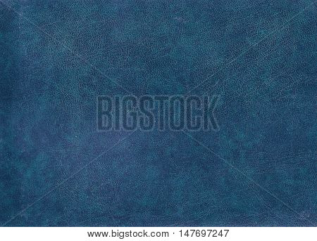 Blue Leather Surface.