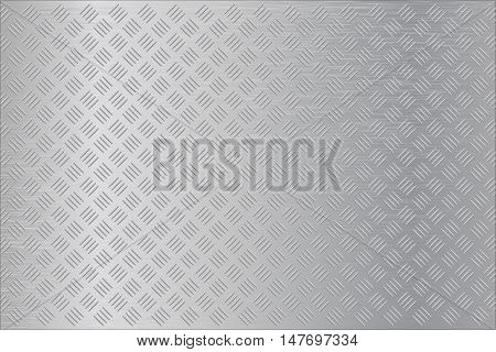 Metal surface background. Non slip metallic flooring. Vector illustration
