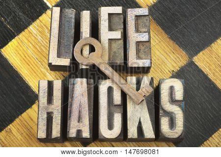 Life Hacks Concept