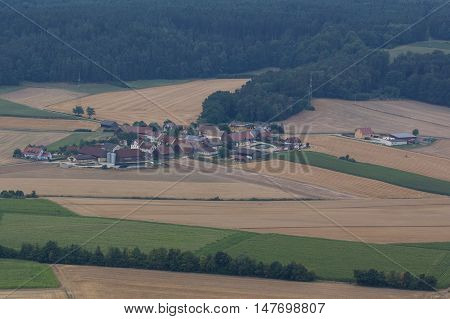 aerial view of Hartenricht in Schwandorf in bavaria