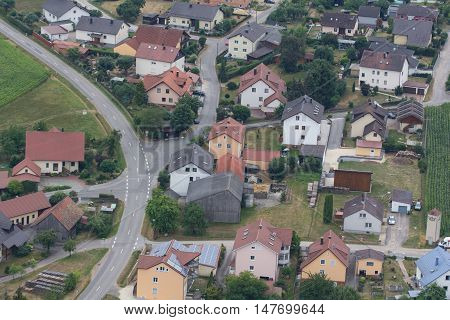 aerial view of Goegglbach in Schwandorf in bavaria G