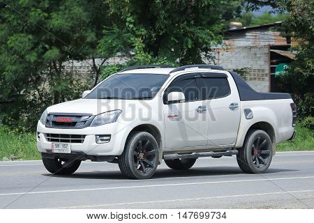 CHIANGMAI, THAILAND - AUGUST 18, 2016: Private Pickup car Isuzu Dmax. On road no.1001 8 km from Chiangmai city.