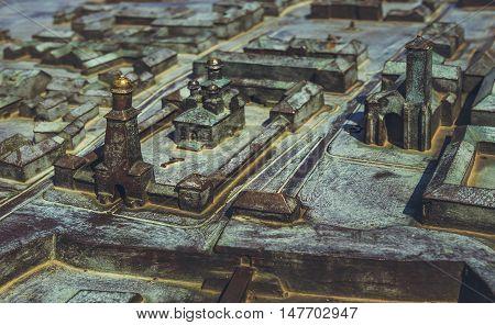 Bronze Model Of Alba Carolina Citadel
