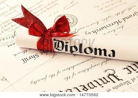 Graduation Diploma, shallow depth of field