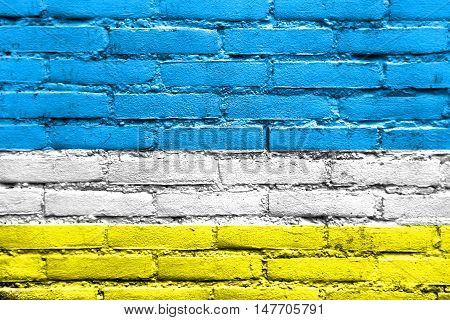 Flag Of La Libertad, Ecuador, Painted On Brick Wall