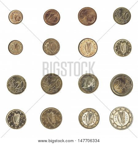 Vintage Euro Coin - Ireland