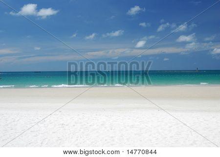 Beach Scene, Tropics, Pacific ocean