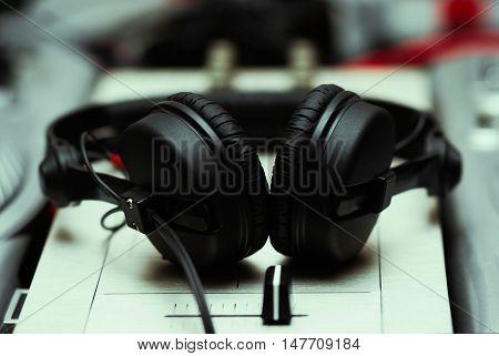 Headphones On Sound Mixing Controller