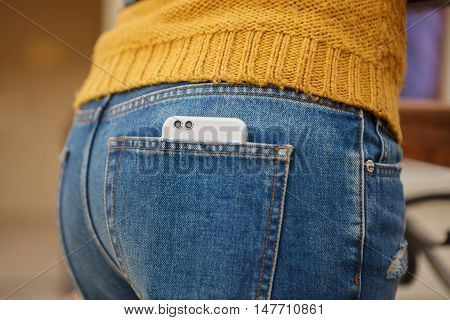 Dual Lens Camera Phone In Jeans Pocket