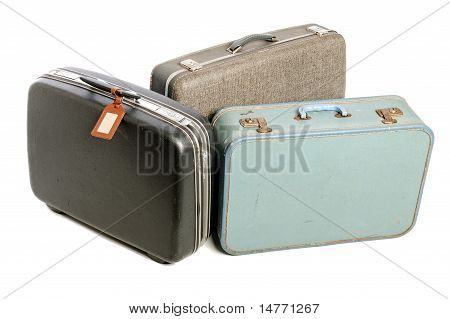 Three Vintage Suitcases