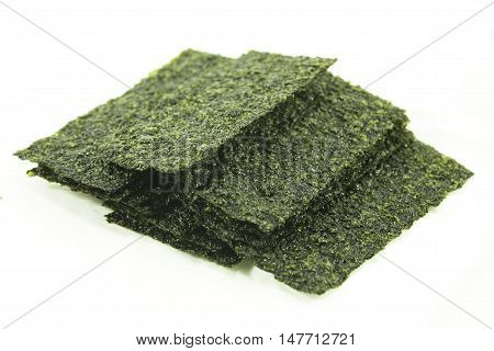 organic seaweed. dry seaweed on the background
